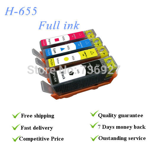 ФОТО 4colors with full specialized ink suit for Hp655 series cartridge,suit for HP3525 HP4615 HP4625 HP5525 HP6520 HP6525,with chip