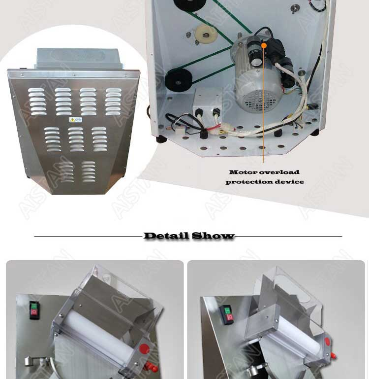 DR2A electric commercial stainless steel pizza dough roller/dough sheeter machine/dough press machine 8