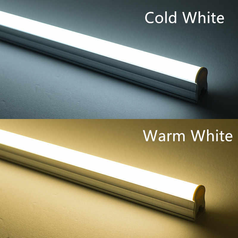 LED Tube T5 T8 Lamp 220V 230V 240V PVC Plastic Fluorescent Light Tube 30cm 60cm 6W 9W 10W LED Wall Lamp Warm Cold White