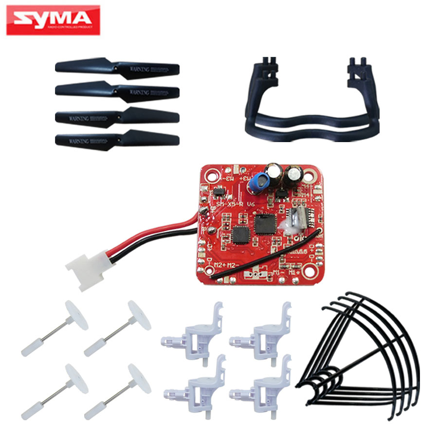 syma x5c x5 RC Helicopter Quadcopter Parts V6 PCB Board + Propeller + Protective frame + Gear + Motor base receiver/main board big togo main circuit board motherboard pcb repair parts for nikon d610 slr