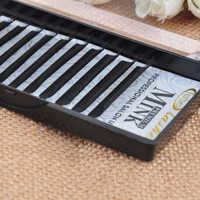 FUZHAN, 2 Trays, natürlichen Dichten Schwarz Faux Mink Individuelle Einzelnen Falsche/Cluster Wimpern Berufs Pfropfen und Täglichen Make-Up