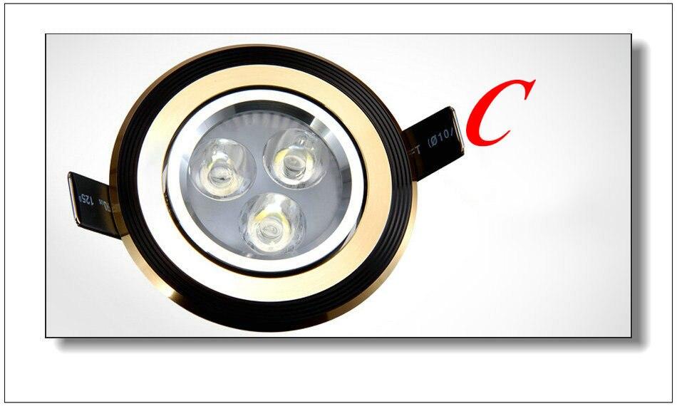 DHL Бесплатная 9 Вт светодиодный потолочный Подпушка Light 110-240 В чисто/теплый белый светодиод встраиваемые Подпушка свет лампы 800 LM