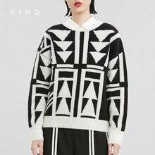 ВИНГ 2017 Новых Прибытия Короткие Sweatershirts Женщины О-Образным Вырезом Пуловеры Черный Белый Смешанные Цвета С Длинным Рукавом Sweatershirts