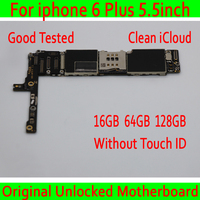 Unlocked main board for iphone 6 Plus motherboard,16GB / 64GB / 128GB version logic board for iphone 7 MB Plate without touch ID