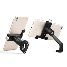 ユニバーサルアルミ合金オートバイ電話ホルダーサポート電話バックミラーミラーモト電話ホルダー GPS 自転車ハンドルバーホルダー