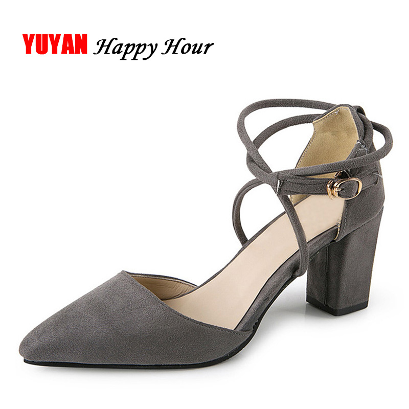 New 2017 Summer High Heel Sandals Sexy Pointed toe Brand ...