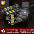 Night Lord CANBUS 2pcs T10 W5W bulbs Clearance Lights 2pcs license plate light special car kit for PAJERO SPORT V6 light source