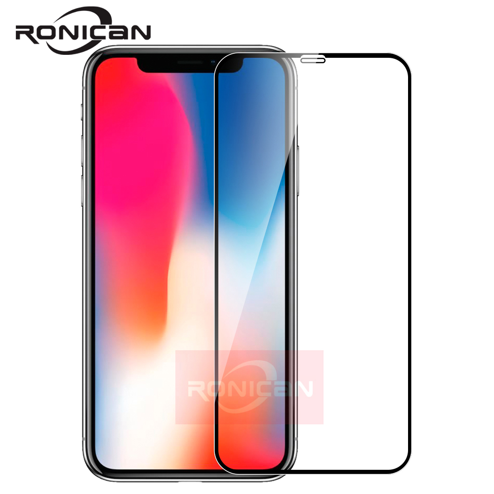 Full Cover Glass On IPhone XS Max XR Tempered Glass Film Screen Protector Protective For IPhone X XS Screen Protection Case