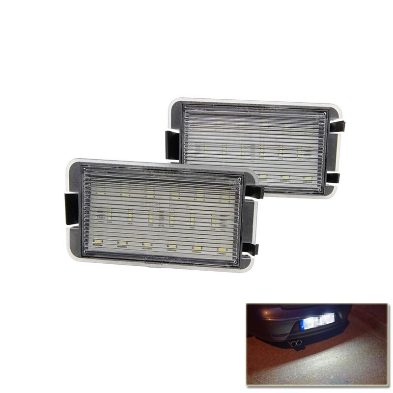 цена на 2x 18SMD Led License Plate Light For 99-05 Seat Leon 1M 04-09 Altea Arosa Cordoba MK1 MK2 Ibiza Toledo 5P Car-Styling