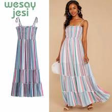 купить 2019 Summer Women Dress Striped Office Dress Short Sleeve Tunic Bandage Bodycon Beach Party Dress Vestidos mujer дешево