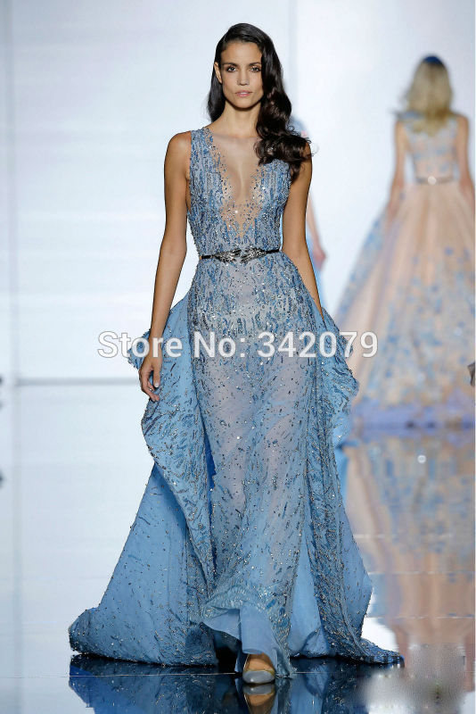 ph15430 tulle train sparkling crystals Mermaid gown zuhair murad ...
