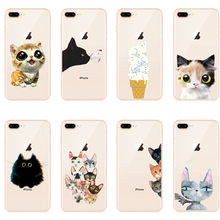 seracase Eccentric hollow out Cat Cases For iphone X 6 6S 7 8 6plus 7plus 8plus Case Corky Soft TPU Silicone Back Cover(China)