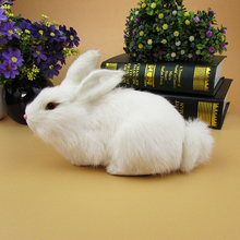 Simulation rabbit polyethylene&furs rabbit model funny gift about 20cmx11cmx13cm