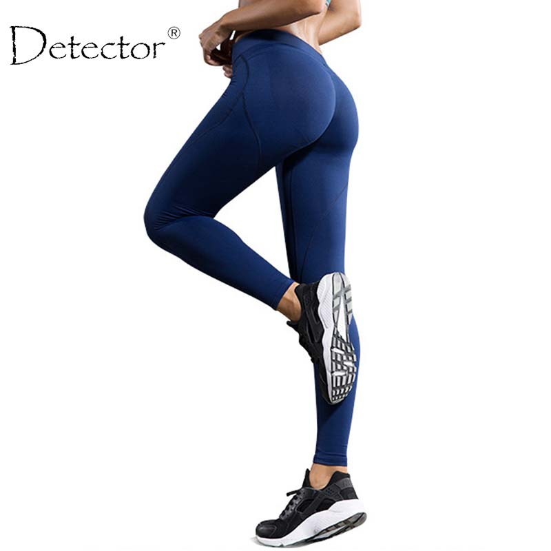 Detector Women Leggings Sport High Waist Slim Yoga Pants Running Fitness Workout Spring Winter Women Legging Trousers