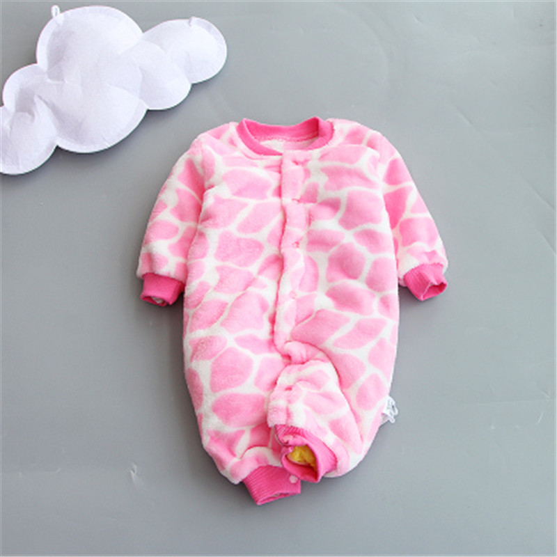 все цены на BibiCola New Baby Winter Rompers Newborn Cotton jumpsuit Thick Baby Girls boys Warm Jumpsuit Autumn Baby Wear Kid Climb Clothe