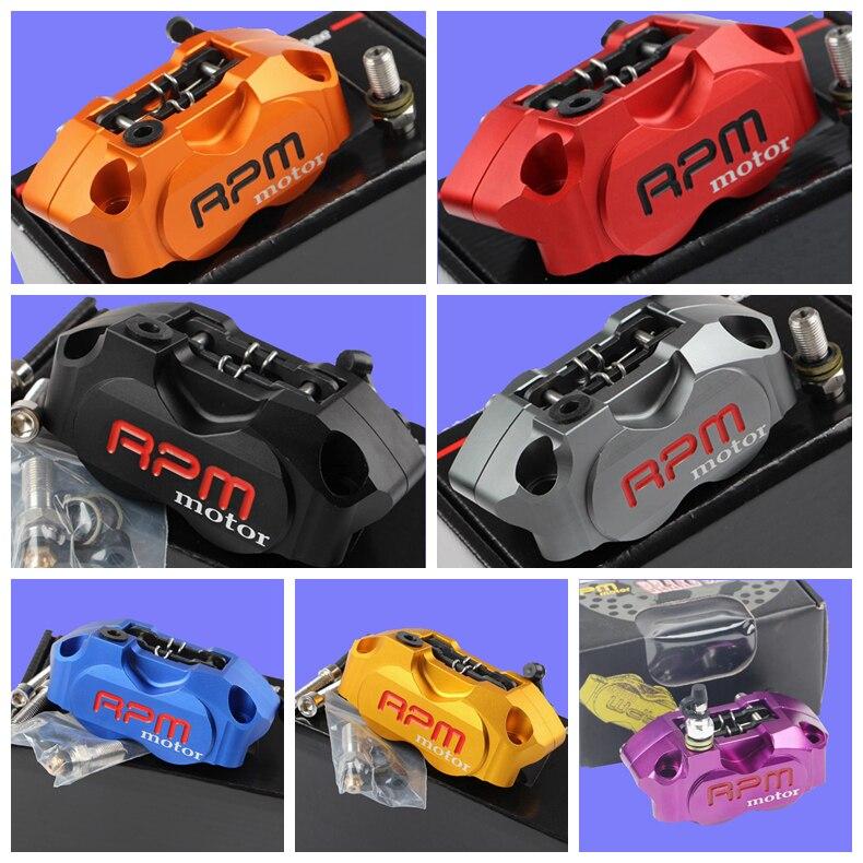 Universale 82mm passo del foro di montaggio Moto Freno Pinza Radiale RPM Moto 4 Pistons Pinza per Honda Suzuki Kawasaki