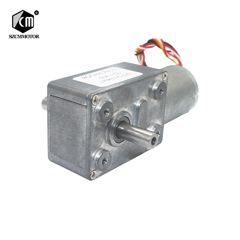 Low Noise Long Life DC12V 24V Double Output Dual Shaft Worm Brushless Gear DC Motor with Speed Control JGY370-2430D цена