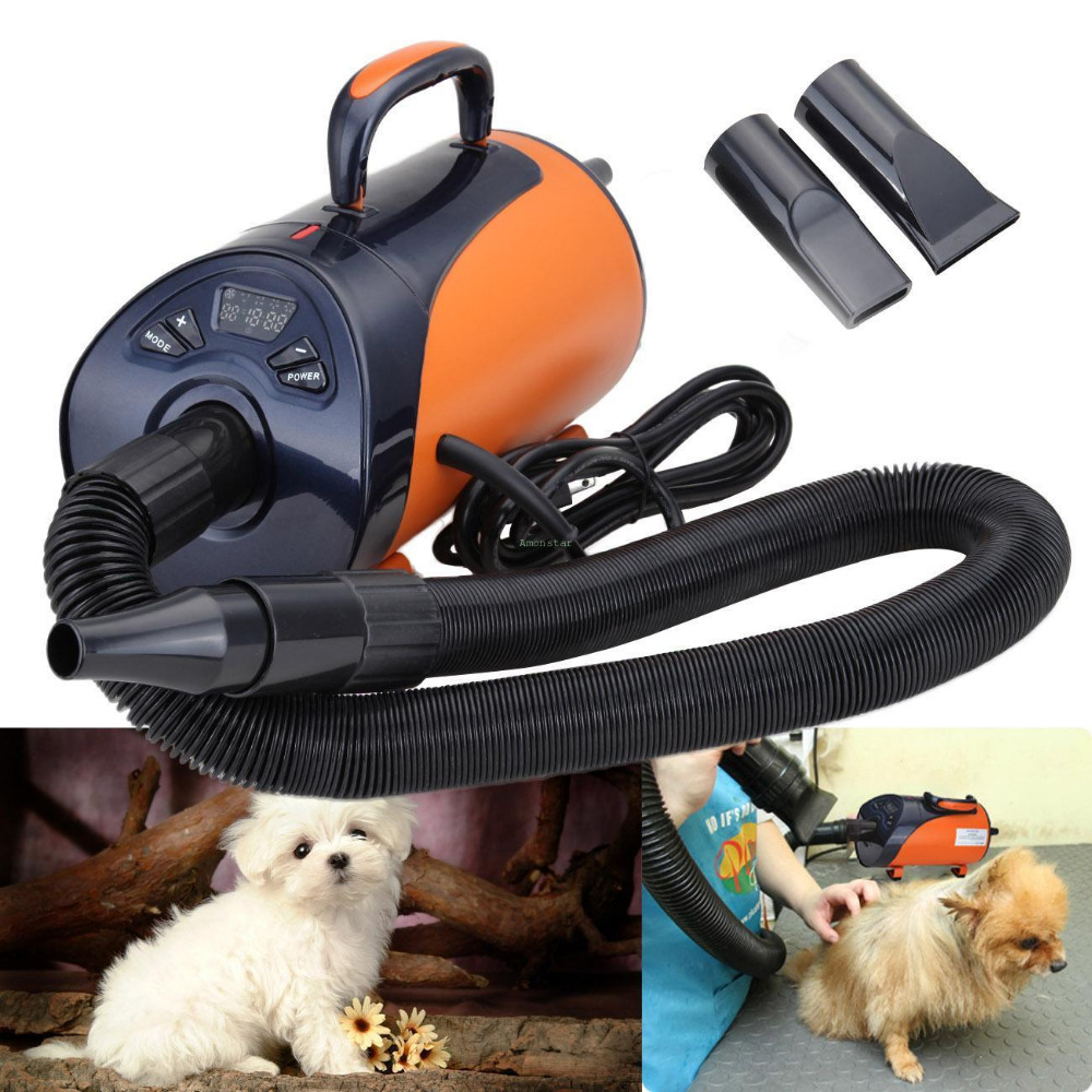 (Shipping From DE)2800W 220V Pet Dog Cat Grooming Pet Hair Dryer 2800W Heater Blaster Blower Hairdryer Low Noise free shipping new version bs 2400 2200w low noise per dryer pet blower with eu plug dog cat variable speed dryer pet grooming