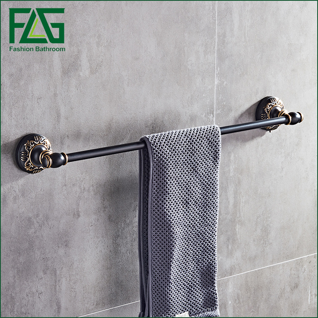 flg retro style wall mounted black surface single towel bars bathroom towel hanger bathroom accessories towel - Bathroom Accessories Towel Bars