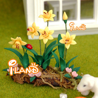 G05 X396 Children Baby Gift Toy 1 12 Dollhouse Mini Furniture Miniature Rement Garden Yellow Flower