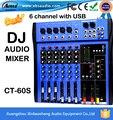 Высокое качество CT-60S 6 каналов профессиональный dj микшер