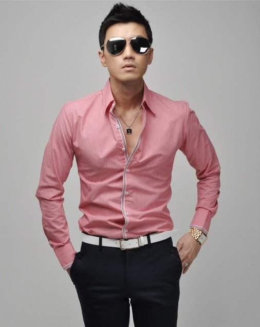 Men shirt new long-sleeved Wholesale Male shirts Men s long sleeve shirt  78311345ee27