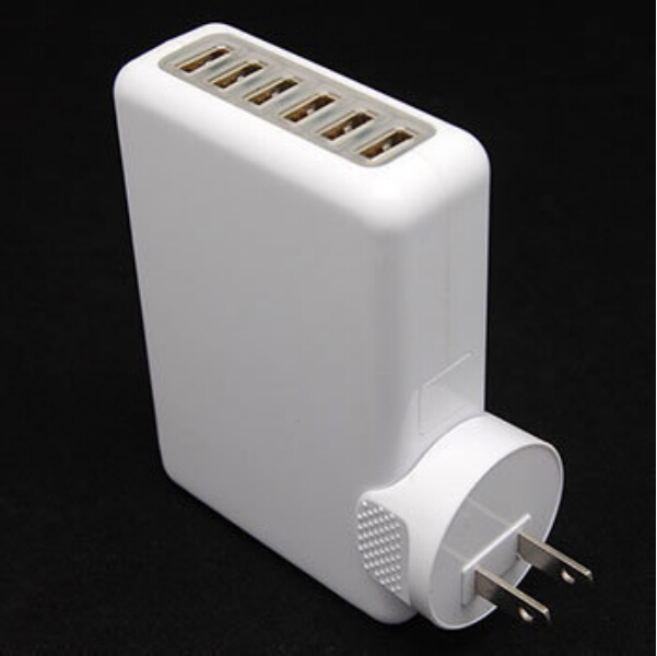 Universal 6 USB Multi Ports EU US AU UK Plug Travel AC