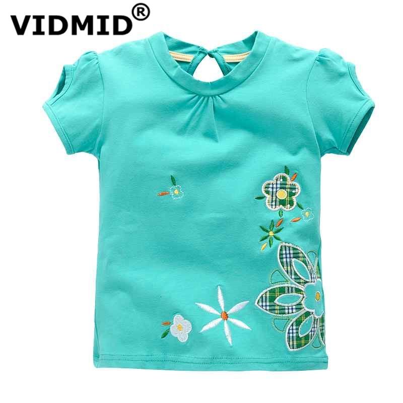 VIDMID baby Girl t-shirt big Girls tees t shirts children blouse t-shirts super quality kids summer clothes rabbit pink brand