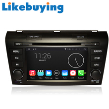 Likebuying Car 2 Din 1024*600 QUAD CORE 16G Android 4.4.4 DVD GPS Radio Stereo Navigator  for Mazda 3 2007-2009