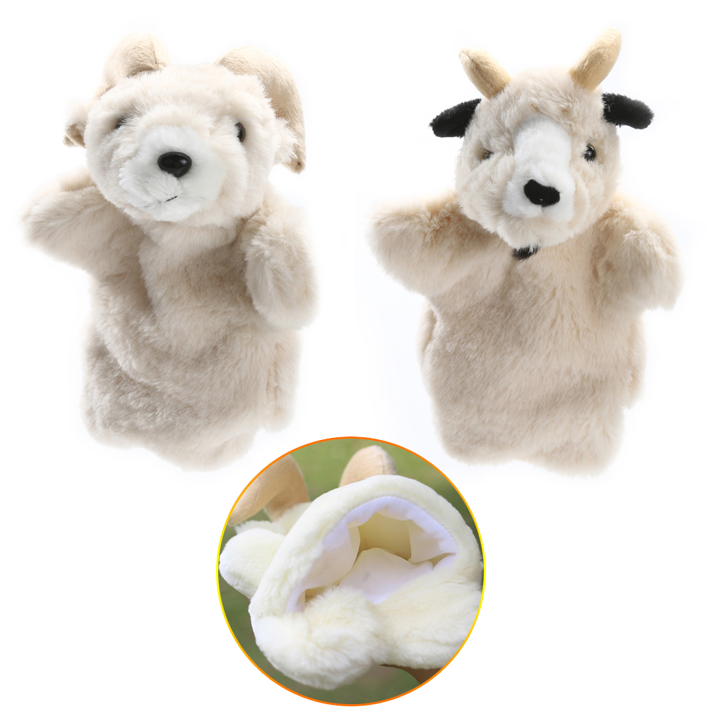 Lovely Sheep Soft Hand Puppet Pretend Playing Doll Gift Soft Doll Plush Toy Parent-child Interactive Puppet Goat Hand Puppet Toy