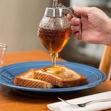 Meyve suyu şurubu fincan arı damla dağıtıcı su ısıtıcısı mutfak aksesuarları bal kavanozu konteyner depolama Pot standı tutucu sıkılabilir şişe