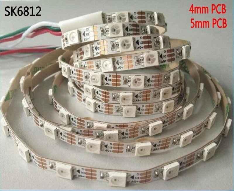 Adresli SK6812 MINI 3535 5050 RGB RGBW led piksel şerit 4mm/5mm RGBNW RGBW WWA 60LEDs /m 5V tam renkli as WS2812B 1m 2m 5M