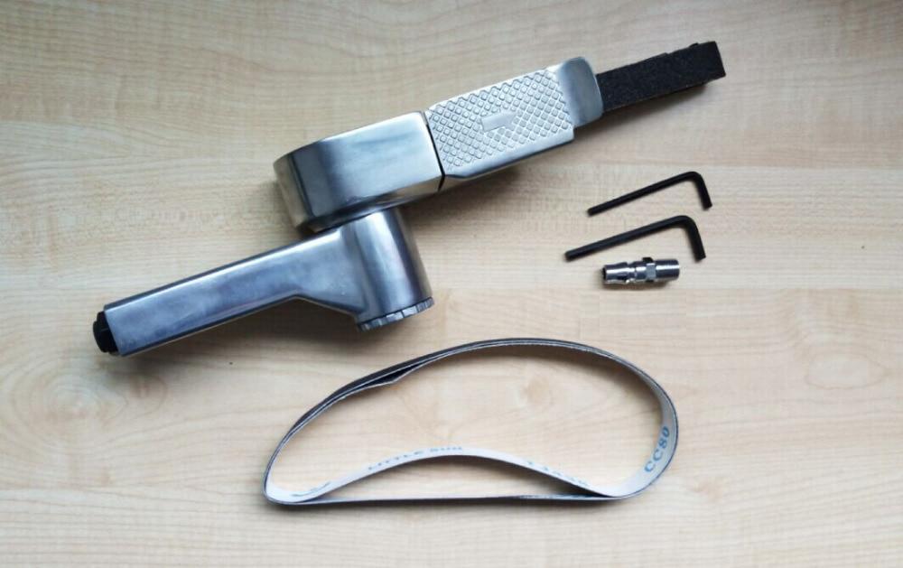Pneumatyczna szlifierka taśmowa 20 mm * 520 - Elektronarzędzia - Zdjęcie 2
