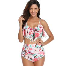 Ruffle Two Piece Swimsuit Female Plus Size Swimwear 2019 Bathers Mayo Bathing Suit Women Beach Wear Maillot Two-piece Swim