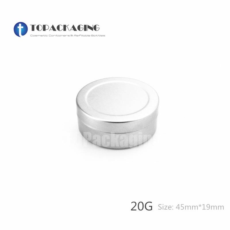 20G x 100 Aluminum Jar Empty cosmetic container cream jar sample tin 20ml lip balm small