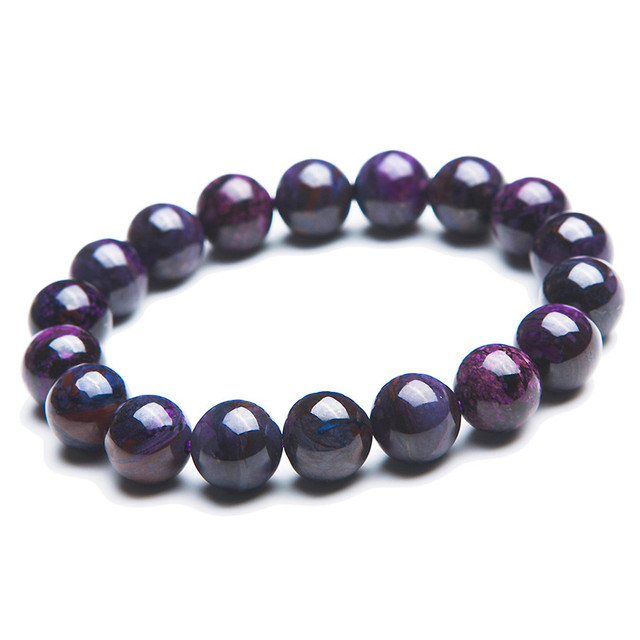 11mm South Africa Genuine Natural Purple Sugilite Stone Stretch Charm Round Bead Bracelet For Women Free Shipping Just One
