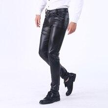 Бренд thoshine одежда для весны, осени, зимы флис Штаны из искусственной кожи Высокая Талия; эластичные узкие брюки для девочек Slim Fit Мягкий Улучшенный уличные брюки