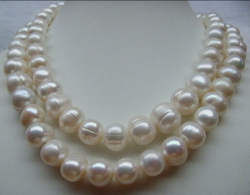 free shipping NATURAL HUGE SOUTH SEA 12- 13MM WHITE PEARL NECKLACE 32 INCH CLASP K () цена