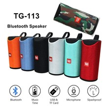 TG113 High Quality Portable Wireless Bluetooth Speaker Mini Column 3D 10W Stereo Music Surround Support FM TFCard Bass Box