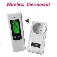 דיגיטלי אלחוטי תרמוסטט חדר טמפרטורת בקר חימום וקירור פונקציה עם שלט רחוק + LCD תאורה אחורית