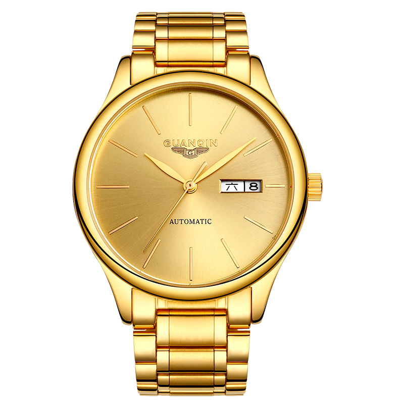 GUANQIN GJ16051 watches men luxury brand Genuine personality mechanical steel simple casual watch thin waterproof gold watchGUANQIN GJ16051 watches men luxury brand Genuine personality mechanical steel simple casual watch thin waterproof gold watch