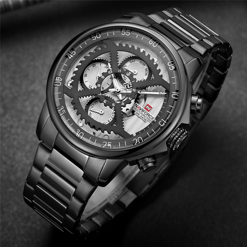 NAVIFORCE Mens Watches Military Luxury Brand Watch Mens Quartz Stainless Steel Clock Fashion Week Date Watch Relogio MasculinoNAVIFORCE Mens Watches Military Luxury Brand Watch Mens Quartz Stainless Steel Clock Fashion Week Date Watch Relogio Masculino