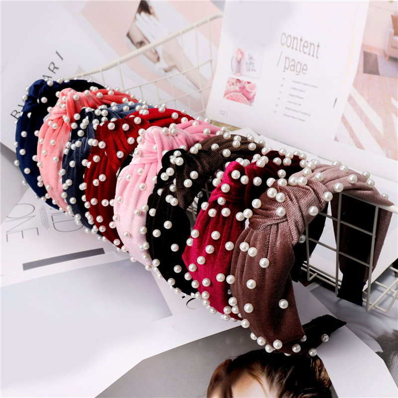 Korean Pearl hairbands Hair Bands for Women Bezel Ornaments Hair Head Girls Hair Accessories Mujer Headwear Headband Jewelry in Hair Jewelry from Jewelry Accessories