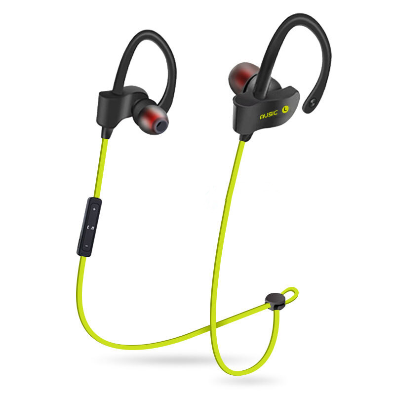 Sport In-Ear Bluetooth Earphone Stereo Earbuds Headset Bass Earphones Ear Hook Wireless Headphone With Mic For IPhone 7 6 Huawei h08 bluetooth headset wireless headphone in ear stereo earphone microphone for xiaomi lg iphone earbuds auriculares ecouteur