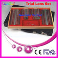 266L-JS 268pcs Ophthalmic Trial Lens Set Shiny Metal Rim Leather Case Packed Lowest Shipping