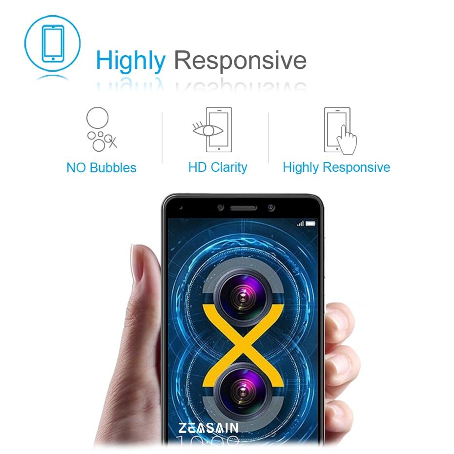 ZEASAIN Penuh Penutup Kaca Tempered untuk Huawei Honor 6X6 X Honor6X - Aksesori dan suku cadang ponsel - Foto 4