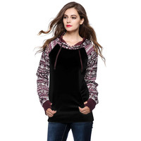 High Quality Fashion Womens Casual Hooded Sweatshirt Pullover Hoodie Coat Outerwear Tops Women Blouses Camisa Feminina