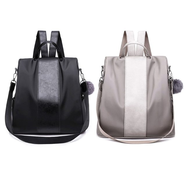 059cf4f2735 US $14.24 25% OFF|New Women Backpack Nylon Women Backpack Purse Waterproof  Nylon Anti theft Rucksack Lightweight -in Backpacks from Luggage & Bags on  ...