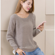 NEW Winter Women's Round Neck Cashmere Sweater Pullover Split Female Wild Knitted Sweaters Fashion Wool Sweater