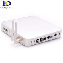 Fanless metal case Intel Celeron Dual Core 1.8Ghz Mini PC thin client Terminal 8GB RAM 256GB SSD, HDMI, Windows 7, WIFI